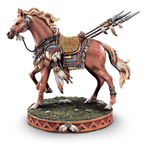 Sacred Courage Native American-Inspired Horse Figurine: Horse-Themed Home Decor by The Bradford Exchange