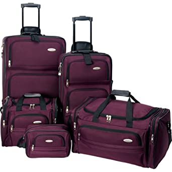 Samsonite Luggage 5 Pieces Nested Set, Purple, One Size