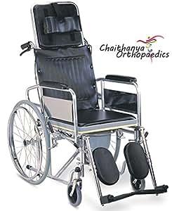 Chaithanya Orthopaedics FC Premium Imported Commode Wheel Chair Reclining