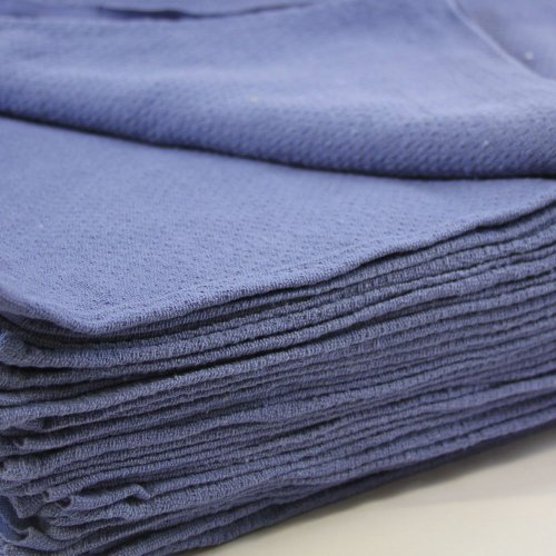 Huck Towels Blue-Commercial -50 Piece Pack -16″x 24″- NEW