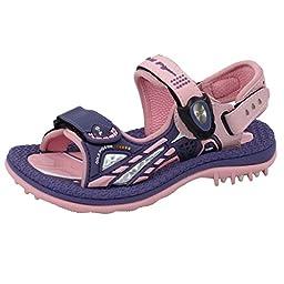 GP9180 Kids Easy\'n Secure Snap Lock (Magnetic Closure) Outdoor/Water Sandals, Purple Pink EU26