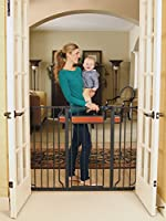 Regalo Home Accents Extra Tall Walk Thru Gate, Hardwood and Steel from Regalo
