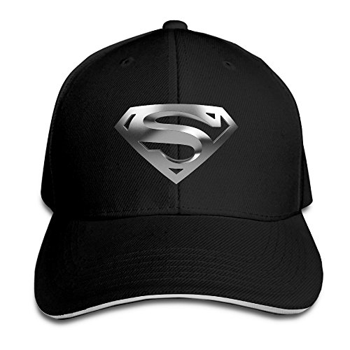 Superman Logo Sandwich Cap Baseball Caps Summer Black (Superman Caps compare prices)