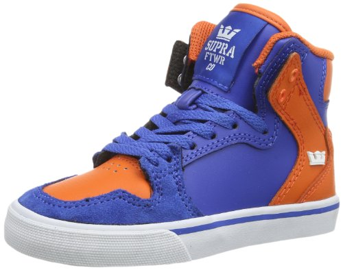 Supra KIDS VAIDER, alto unisex bambino, Blu (Blau (BLUE/ORANGE - WHITE BOW)), 38.5