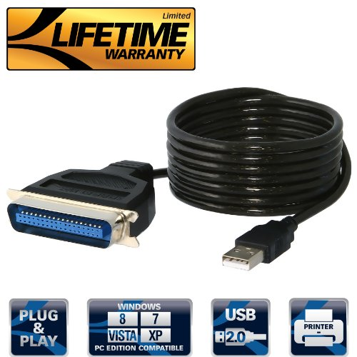 Sabrent USB to Parallel IEEE 1284 Printer Cable Adapter (CB-CN36) (Bi Directional Usb To Parallel compare prices)