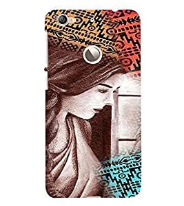 PrintVisa Stylish Cool Girl Colorful 3D Hard Polycarbonate Designer Back Case Cover for LeEco Le 1S