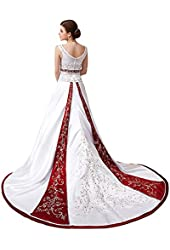 Faironly D74 Women's Cathedral Train Wedding Dress Bridal Gown