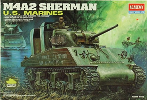 Academy 1:35 M4A2 Sherman Tank US Marines Plastic Model Kit #13203 (Academy 1 35 Sherman compare prices)