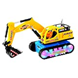 ToyZe® Bump And Go Action, Excavator Tractor Toy, With Lights And Real Sounds.