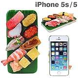iPhone5s iPhone5 ケース カバー 食品サンプル iPhone 5s 5 ハード クリア タイプ / ミニチュア お寿司8貫