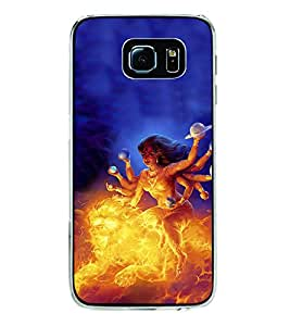 ifasho Godess Durga Back Case Cover for Samsung Galaxy S6