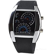 buy Watch Magasin New Fashion Cool Flash Led Digital Watch Innovative Car Meter Air Race Sports Dial Led Electronic Binary Watches Mutilcolor Hot