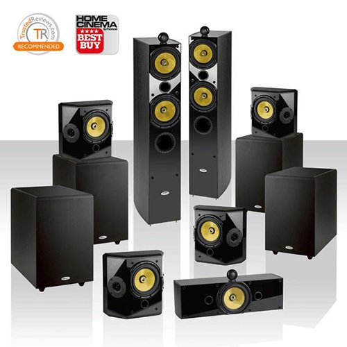 "Crystal Acoustics T2-7.4 Home Theater System With Thx® Ultra2 Fronts & 4 Thx Select 10"" Subwoofers"