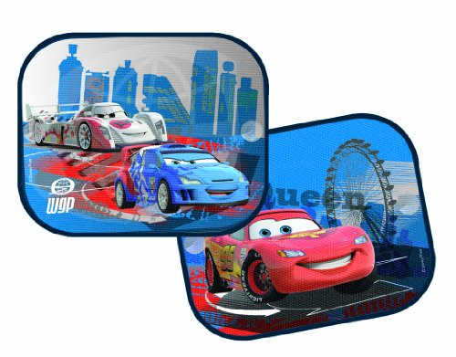 Joy Toy 40012 - Disney Cars, Sonnenschutz für Auto, einfache Anbringung mit Saugnapf Paar, 36 x 45 cm