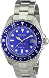 Nautec No Limit Herren-Armbanduhr Deep Sea Analog Automatik DS AT-GMT/STSTBLBL