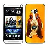 Slim Design Hard PCAluminum Shell Case Cover for HTC One M7 Basset Hound  Pendant Ear Dog JUSTGO PHONE PROTECTOR