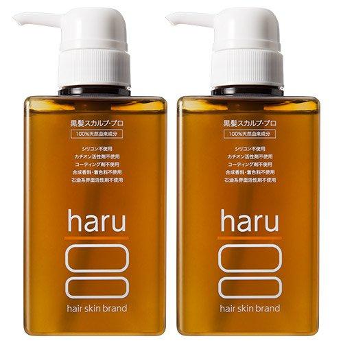 《5%OFF》haru 黒髪スカルプ・プロ 400ml 2本セット