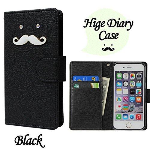 ROCOCO[AQUOS EVER SH-02J SH02J アクオス エバーSH-02J SIMフリー SH-M04 SH-M04-A UQ mobile AQUOS L AQUOS U SHV37 共用 Diary Case] 全機種ケース対応 ケース 手帳型 カバー 手帳 ダイアリー 収納 カードいれ シンプル Xperia Iphone Galaxy Optimus Aquos Arrows Regza らくらく MEDIAS ELUGA DisneyMobile isai Kyocera Digno HTC Huawei Google Ymobile Fujitsu Apple Asus スマートフォンケース機種対応 手帳ケース 人気 かわいい おすすめ 丈夫 収納 カード入れ Diary キャラクター 携帯 シンプル 無地 カラープール Color キャラクター ひげ 人気デザイン ひげ かわいい ひげ キャラクター BLACK
