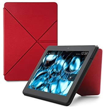 "Amazon Kindle Fire HDX 8.9"" Standing Leather Origami Case, Red  [will only fit Kindle Fire HDX 8.9"" (3rd Generation)]"