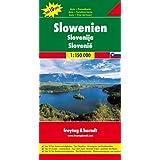 Eslovenia, mapa de carreteras. Escala 1:150.000. Freytag & Berndt.: Top 10 Tips Sehenswürdigkeiten. Top Citypläne...