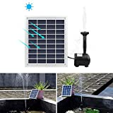ALLOMN 2W Solar Pump Fountain Submersible Water Pump Panel Kit 55cm/22Inch height for Garden Plants Pool Pond Bird Bath