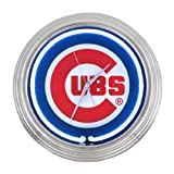 Chicago Cubs Neon Wall Clock Amazon.com