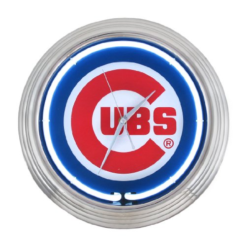 Chicago Cubs Neon Wall Clock at Amazon.com