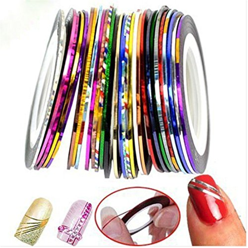 Nail Art Mixed Colors Striping Tape