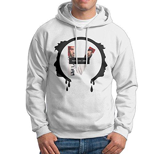 UFBDJF20 Twenty-One Pilots Men's Fleece SweatshirtWhite L (Hot Tools Hood Dryer compare prices)