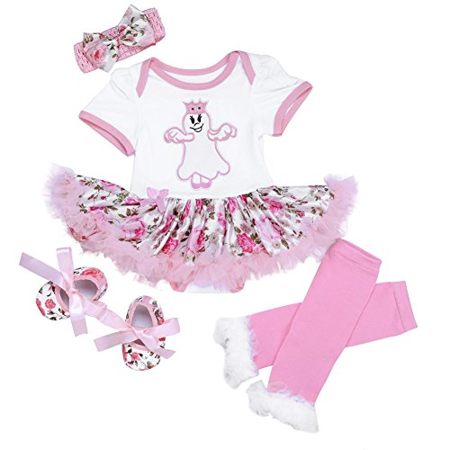 ANDI ROSE Baby-Girls Halloween Dress|Leg Warmer|Hat Hairpin|Baby Shoes(4pcs)