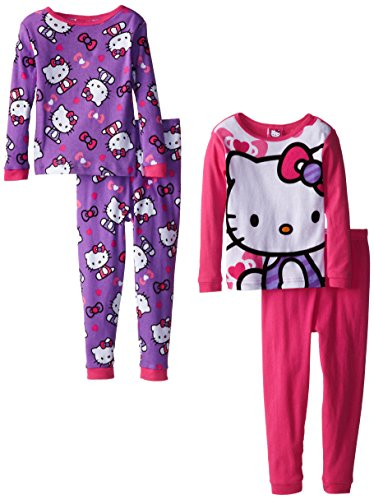 Hello Kitty Little Girls' Twofer Cotton Pajama Set, Multi, 4 front-921230