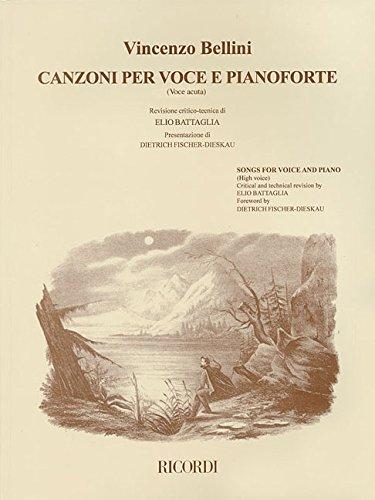 CANZONI PER VOCE E PIANOFORTE SONGS FOR VOICE AND PIANO   VOLUME 1 HIGH VOICE