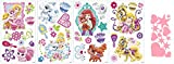 Disney Princess Palace Pets Wall Decals and Hearts & Stars Mini Sheet Bundle