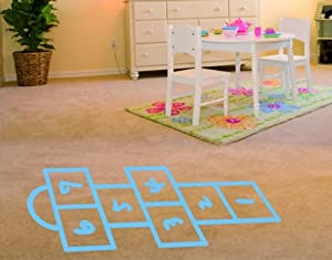 Best Quality Vinyl Wall Sticker Decals - Hopscotch ( Size: 24in x 64in - Color: gentian ) - No: S120