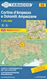 TabaccoMaps 03 Cortina d'Ampezzo e Dolomiti Ampezzane 1:25.000 topographic hiking, cycling & ski touring map (Dolomites, Alps)