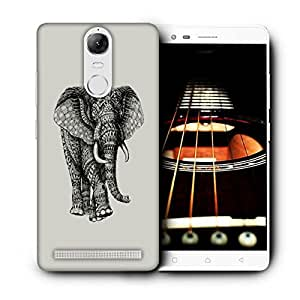 Snoogg Abstract Elephant Designer Protective Back Case Cover For LENOVO K5 VIBE