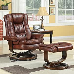 Scandia Chair and Ottoman Color: Mahogany