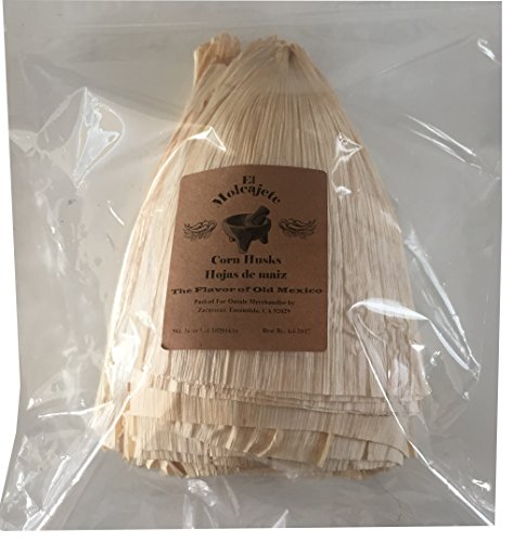 El Molcajete Brand Corn Husks Hojas de Maiz Tamale Wrappers 1 Pound (Corn Husk Shells compare prices)
