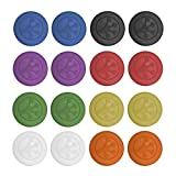 Grip-iT Analog Stick Covers, Set of 16 (Blue, Black, Red, Green, Purple, Yellow, Orange, & Clear)