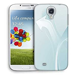 Snoogg White Arrow Designer Protective Phone Back Case Cover For Samsung Galaxy S4