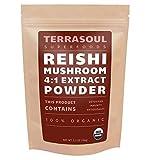 Red Reishi Mushroom Powder 4:1 Extract (Organic), 5.5-ounce