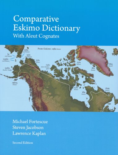 Comparative Eskimo Dictionary with Aleut Cognates PDF
