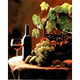 Tom Kelley Grapes Fruit and Red Wine Art Print POSTER - 16x20by Poster Revolution