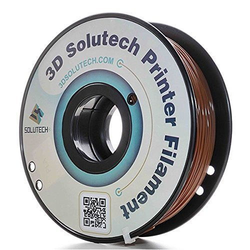 3D Solutech Chocolate Brown 1.75mm PLA 3D Printer Filament 2.2 LBS (1.0KG) - 100% USA