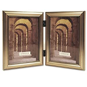 Lawrence Frames Antique Silver Wood Double 5x7 Picture Frame - Classic Design