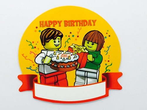 LEGO Birthday Nametag Stickers