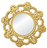 Golden Trestle Wooden wall Jharoka Mirror
