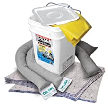 Oil-Dri L90435 Compact Universal 5-Gallon Bucket Spill Kit, 5-Gallon Maximum Absorption Capacity