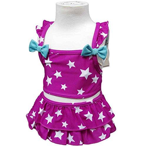 ガールズベビー水着[ChoChoBi ChoChoBoo]女の子 女児 赤ちゃん星ドット柄セパレート水着90cm ピンク