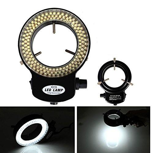 Floureon 144Led Ring Light For Stereo Microscope Used As Light Source For Cameras To Focus While Hunting Viewing In Dark Places Or Areas.